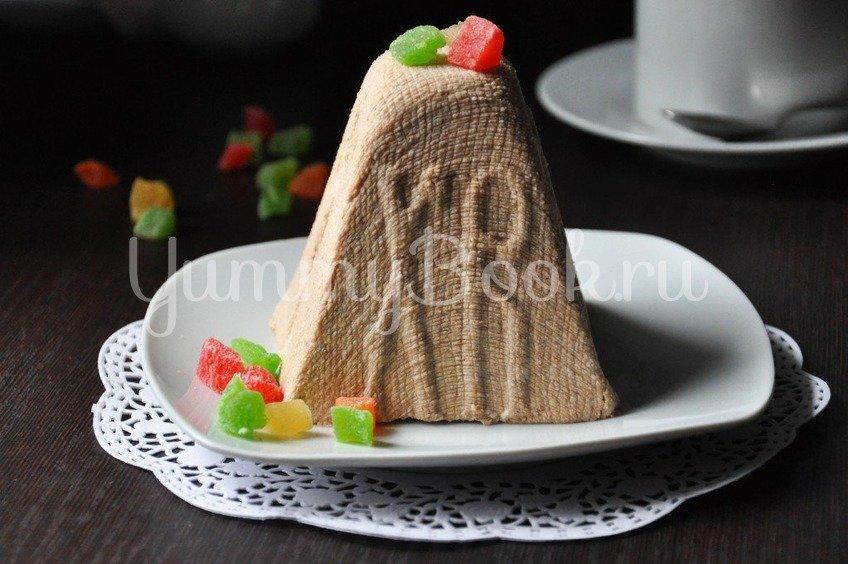 Творожная шоколадная пасха