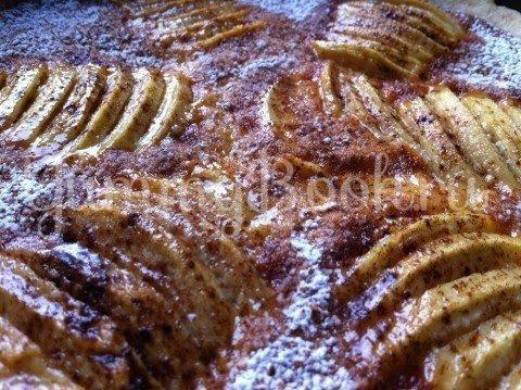 Яблочный пирог с пудингом и марципаном - шаг 10