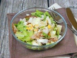 Салат с куриным карпаччо
