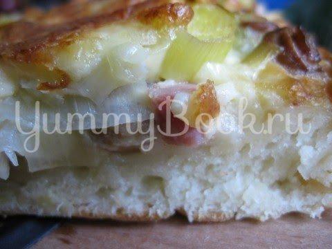 Пирог с луком-пореем, Lauchkuchen - шаг 16