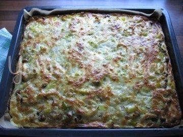Пирог с луком-пореем, Lauchkuchen - шаг 13