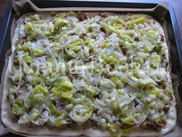 Пирог с луком-пореем, Lauchkuchen - шаг 11