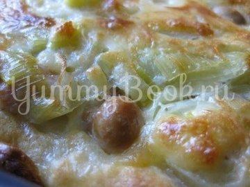 Пирог с луком-пореем, Lauchkuchen - шаг 14