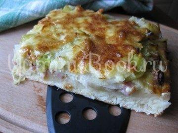 Пирог с луком-пореем, Lauchkuchen - шаг 15