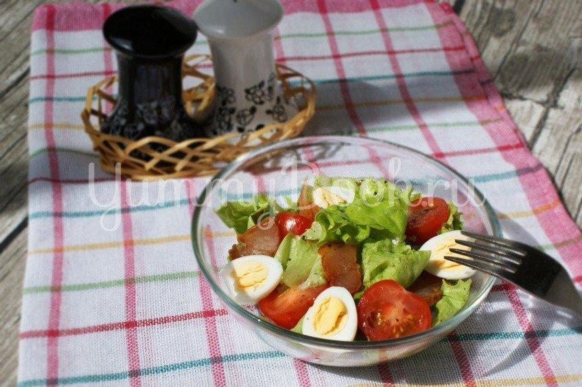 Салат с карпаччо и лимонной заправкой