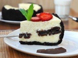 Творожный пирог с шоколадным печеньем в мультиварке