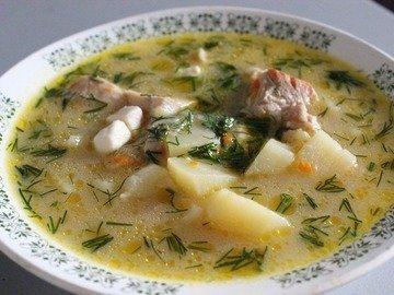 Суп из курицы с плавленным сыром в мультиварке