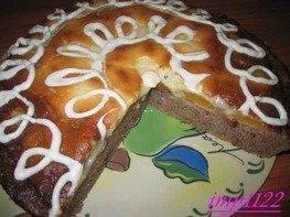 Пирог абрикосовый с малиной