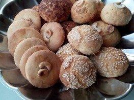 Песочное печенье с орехами на кефире
