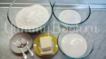 Песочное печенье с орехами на кефире - шаг 1