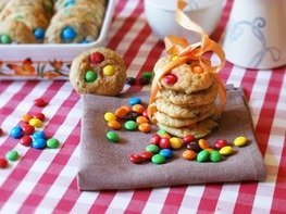 Печенье с конфетами M&M's