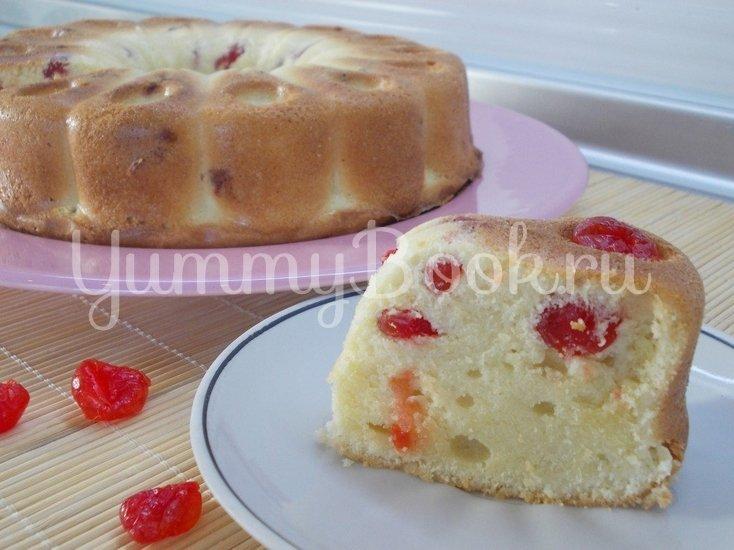 Ванильный кекс с сушеными вишнями - шаг 7