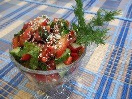 Свеженький овощной салат