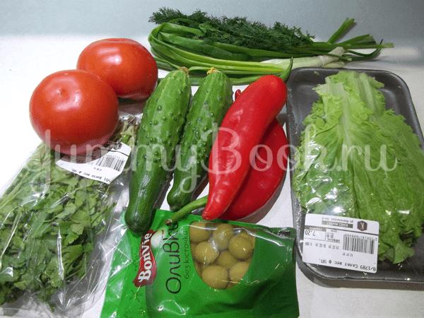 Свеженький овощной салат - шаг 1