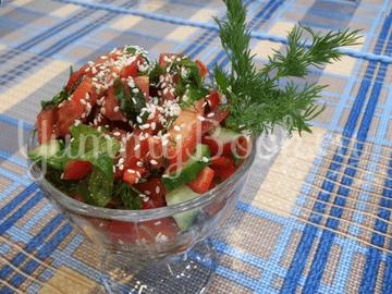 Свеженький овощной салат - шаг 10