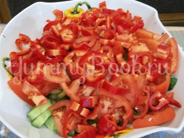 Свеженький овощной салат - шаг 7