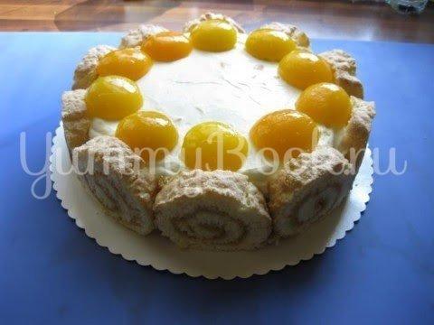 Абрикосовый торт с  кремом из маскарпоне - шаг 19