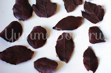 Шоколадные листики - шаг 6
