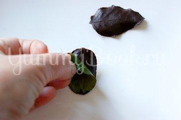Шоколадные листики - шаг 5