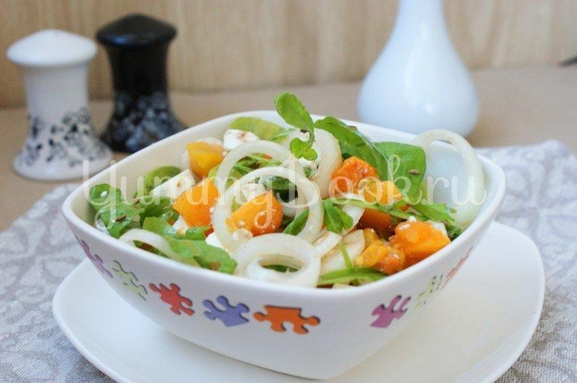 Салат с тыквой, рукколой и фетой - шаг 5