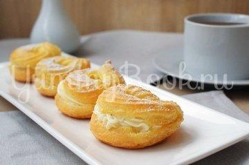Заварные пирожные «Творожное кольцо» - шаг 10