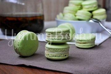 Макаронс с зеленым чаем - шаг 16