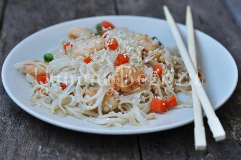 Рисовая лапша с креветками и овощами - шаг 5