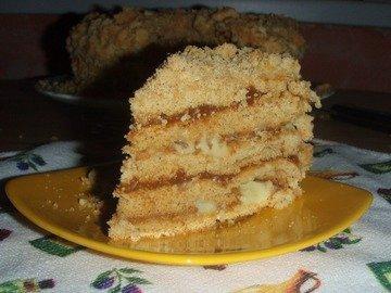 Медовый торт с заварным кремом и ириской!