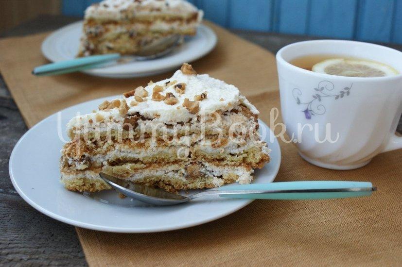 Торт с безе и орехами - шаг 8
