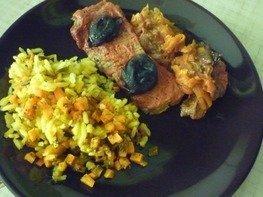 Рис с морковью и зеленью