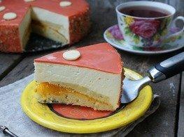 Муссовый торт с персиком