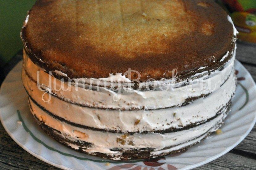 Бисквитный торт с кремом - шаг 8