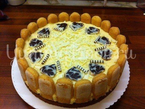 Клубничный торт с белым шоколадом