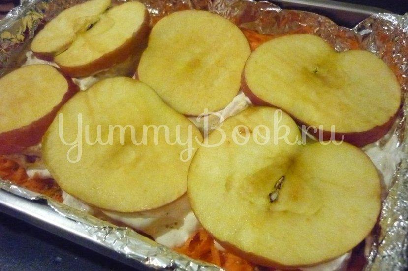 Нежная корейка, запечённая с яблоком - шаг 12