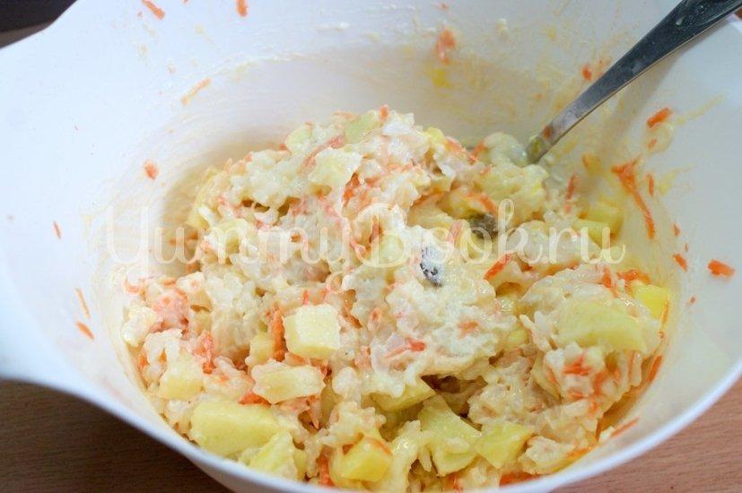 Рисовая запеканка с творогом и яблоками в мультиварке - шаг 4