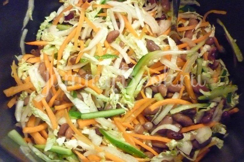Салат с фасолью и тунцом - шаг 13