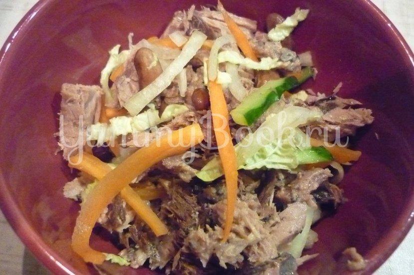 Салат с фасолью и тунцом - шаг 15