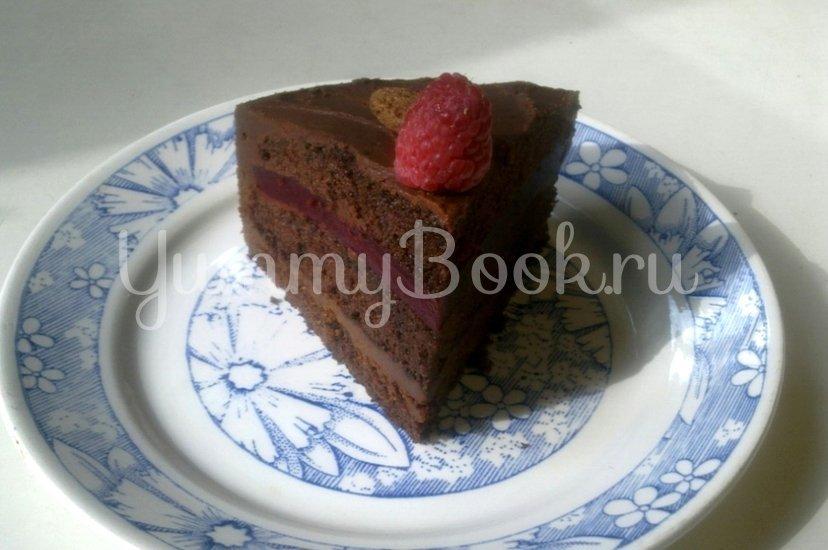 Шоколадный торт с малиной - шаг 24