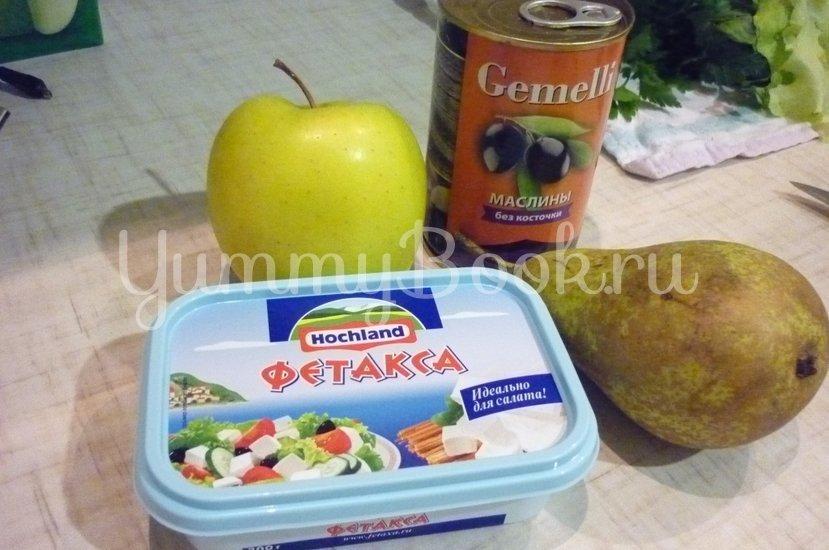 Пикантные канапе с сыром, фруктами и маслинами - шаг 1