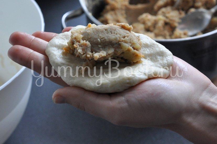 Пирожки дрожжевые с картофелем и печенью - шаг 8