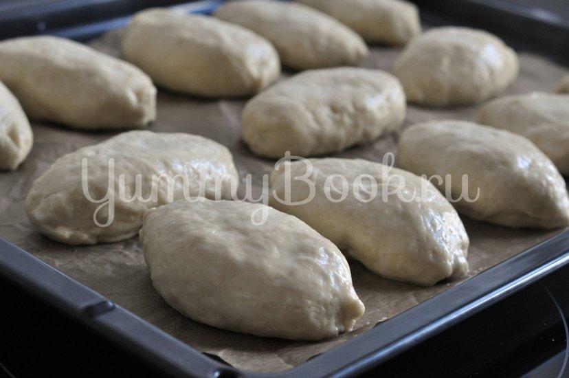 Пирожки дрожжевые с картофелем и печенью - шаг 9