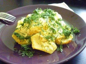 Картофель, запечённый в сметане