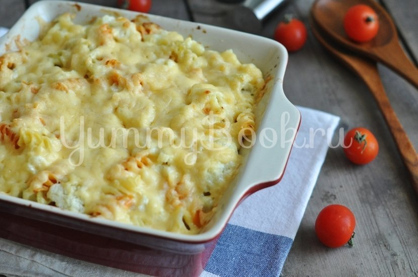 Макароны с сыром и цветной капустой - шаг 6