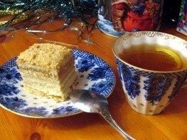 Торт Наполеон со сметаной