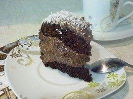 Шоколадно-банановый бисквитный торт