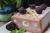 Шоколадный семифредо с бисквитом
