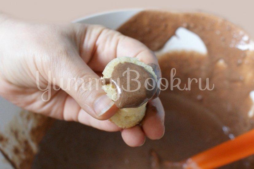 Шоколадный семифредо с бисквитом - шаг 7
