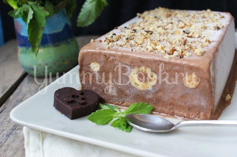 Шоколадный семифредо с бисквитом - шаг 10