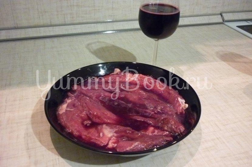 Ароматная запечённая говядина, маринованная в вине - шаг 5