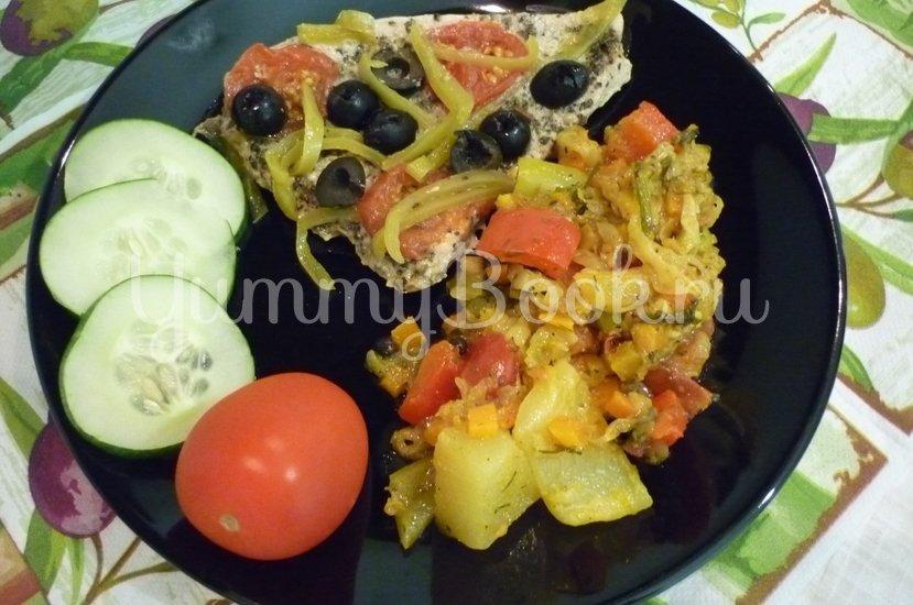 """Филе индейки, запечённое с маслинами, """"Черри"""" и болгарским перцем - шаг 18"""